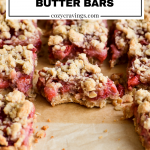 Strawberry Peanut Butter Bars Pin