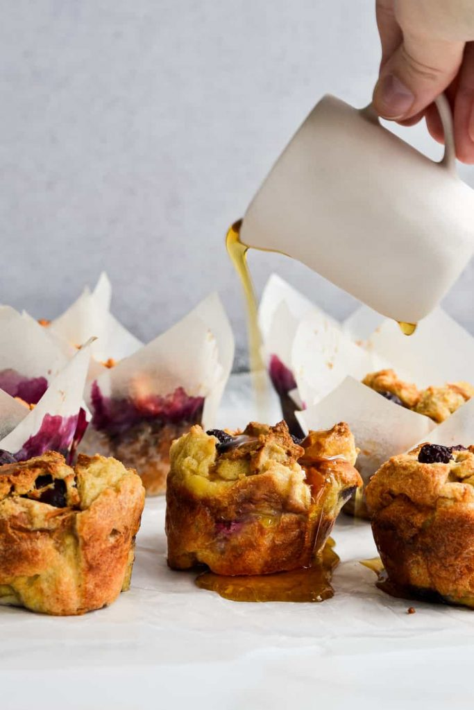 Blueberry Challah French Toast Cups