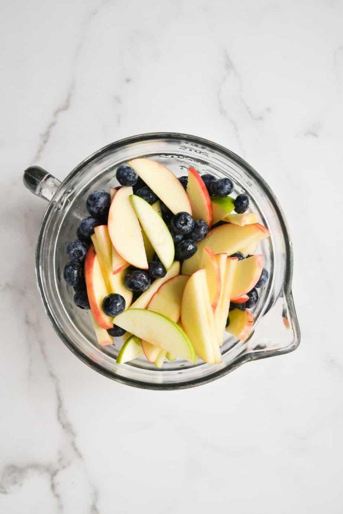 Apple Blueberry Pecan Crumble