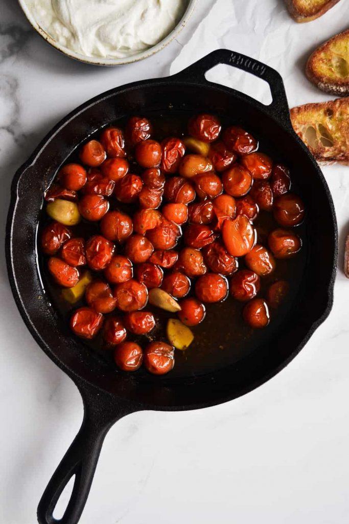 Tomatoes and garlic confit