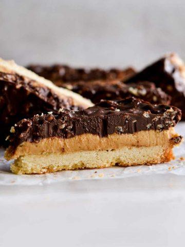 Chocolate Krispie Peanut Butter Shortbread Bars
