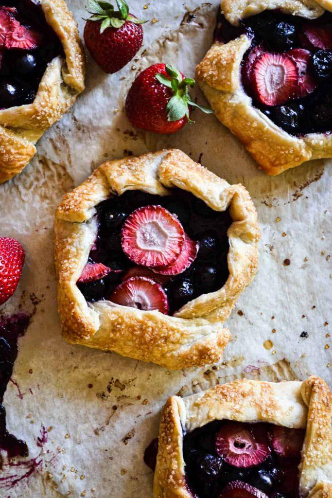 Mini Strawberry & Blueberry Galettes