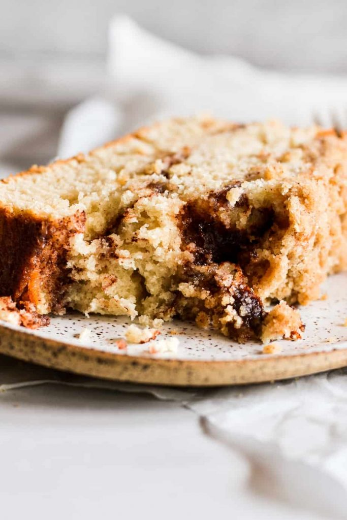 Cinnamon Swirl Streusel Loaf