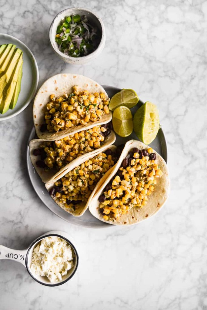 Mexican Street Corn & Black Bean Tacos