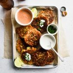 Zucchini Corn Fritters with Homemade Chipotle Mayo
