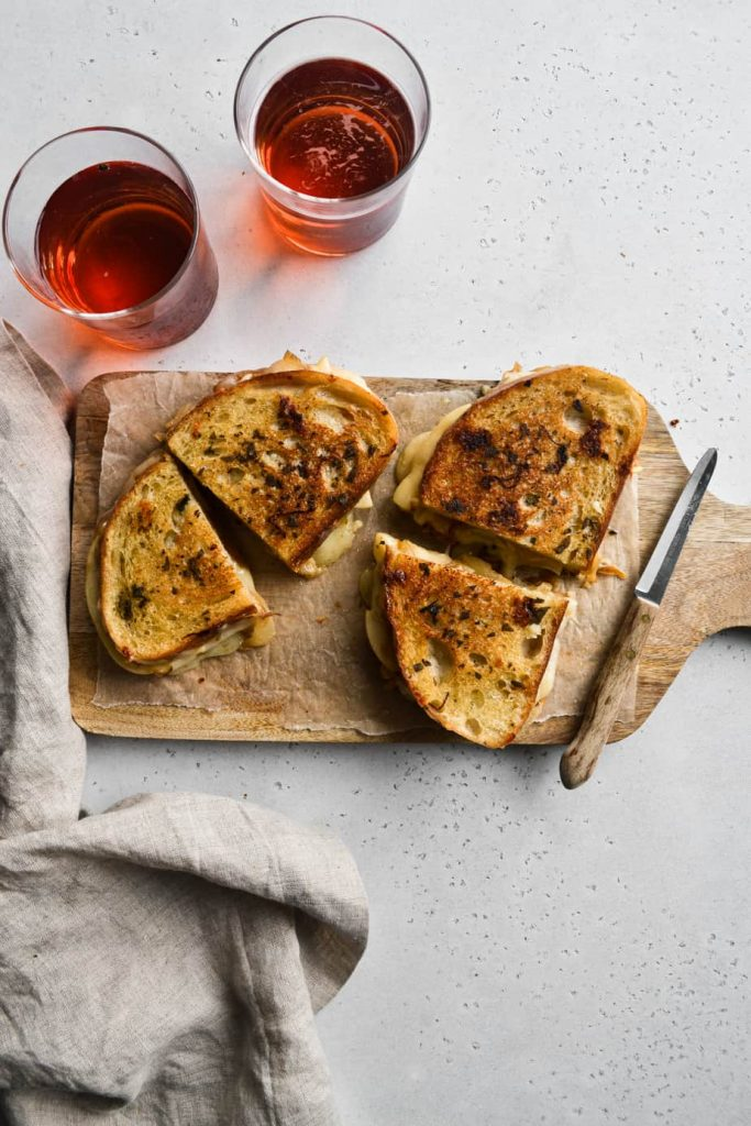 Caramelized Onion and Apple Grilled Cheese Sandwich