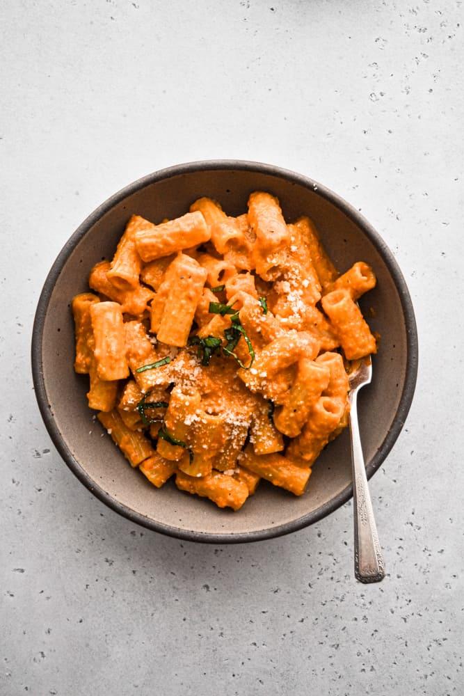 Served pasta dish