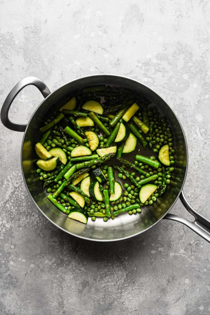 Vegetables cooked in the pot